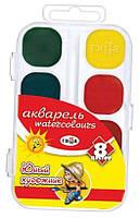 Краски акварельные Гамма 8цв пластик