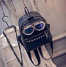 Молодежный рюкзак с очками и заклепками, фото 2