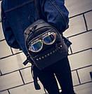 Молодежный рюкзак с очками и заклепками, фото 4