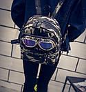 Молодежный рюкзак с очками и заклепками, фото 5