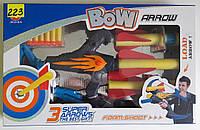 Детский арбалет 2 в 1 Bow Arrow - Мягкие дротики и ракеты (свет)