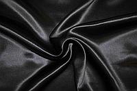 Атлас однотонный Цвет черный