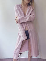 Кардиган Ohaina вязаный на пуговице цвет сумрачно-розовый, фото 1