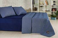 Набор Горох: постельное белье и одеяло летнее Темно-синий, фото 1