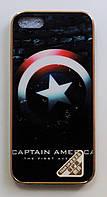 Чехол на Айфон 5/5s/SE Силикон Глянцевый с принтом Капитан Америка, фото 1