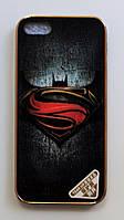 Чехол на Айфон 5/5s/SE Силикон Глянцевый с принтом Супермен, фото 1