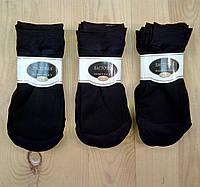 Носки капроновые женские супер короткие чёрные Ласточка НК-58