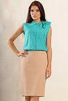 Блуза Альберта-Плиссе цвет бриз хлопок