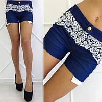 Женские джинсовые шорты с кружевом 88299