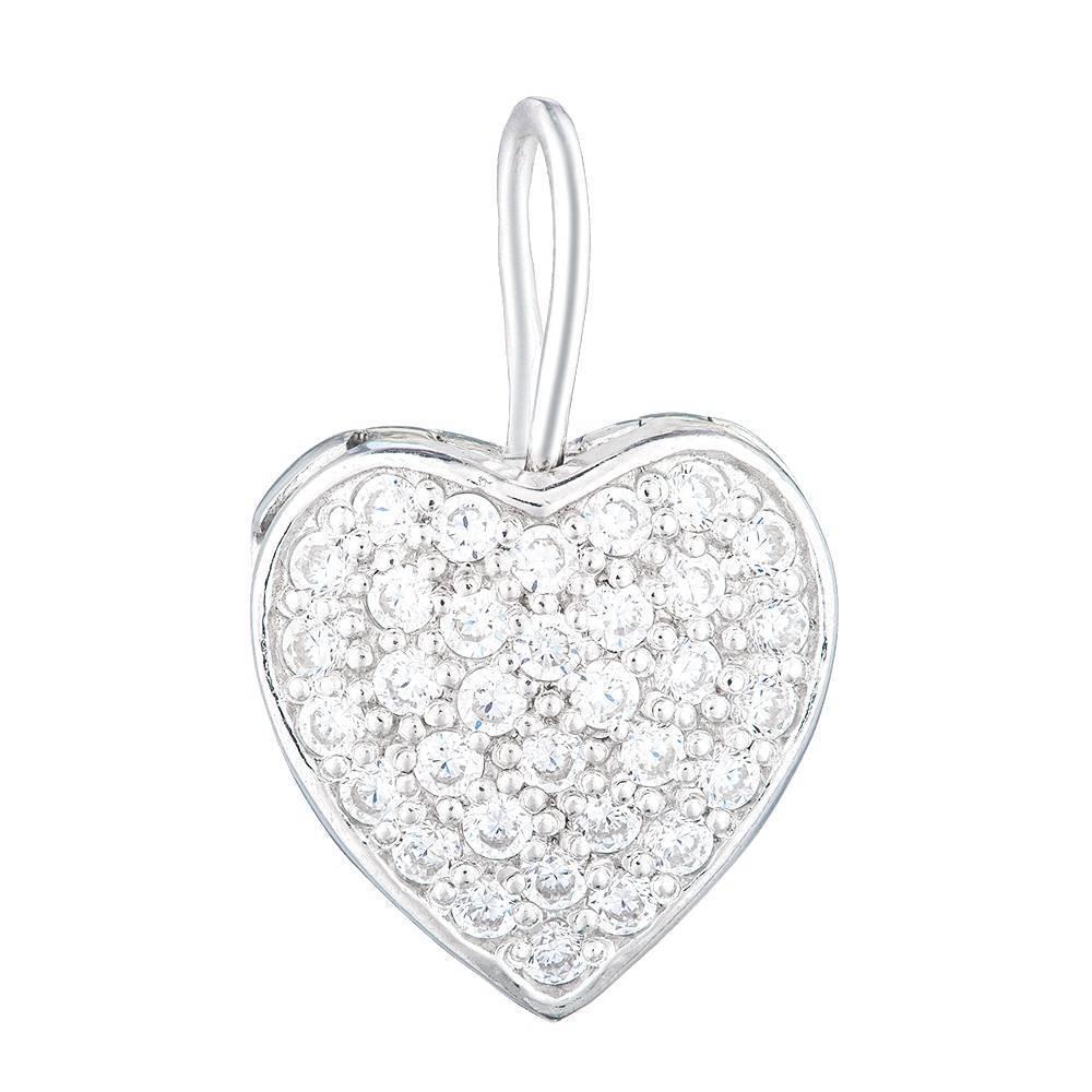 Серебряная открывающаяся подвеска (кулон) Сердце