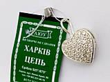 Серебряная открывающаяся подвеска (кулон) Сердце, фото 4
