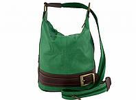 Женская сумка - рюкзак из натуральной кожи с бляшкой. Италия.