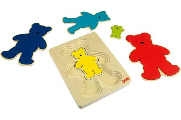 Goki Развивающая игра Разноцветные мишки 57884