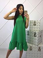 Летнее платье до колена