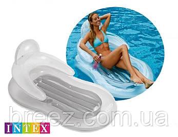 Надувное пляжное кресло - матрас Intex  с подголовником 155 х 97 см , фото 2