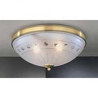 Потолочный светильник RECCAGNI ANGELO PL 4650/3 бронза/белый
