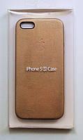 Чехол на Айфон 5/5s/SE Smart Case Кожа Бежевый, фото 1