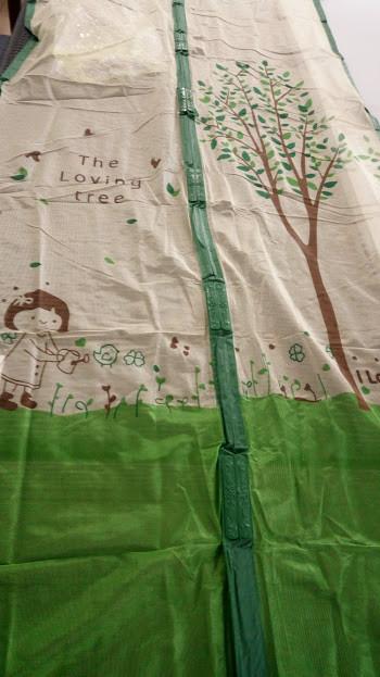 Сетка на дверь 90х210 см зелёная 1 сорт дерево