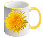 Чашка с Вашим дизайном Two Tone Mug, с цветной ручкой и каймой, фото 3