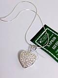 Серебряная открывающаяся подвеска (кулон) Сердце, фото 5