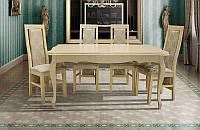 Стол обеденный раскладной буковый Royal слоновая кость