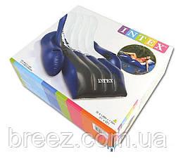 Пляжный надувной шезлонг для плаванья Intex  белый 180 х 135 см  , фото 2