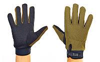 Перчатки тактические с закрытыми пальцами 5.11  (р-р L, оливковый), фото 1
