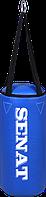 Мешок боксерский 40х18, кожзам, синий, 4 подвеса