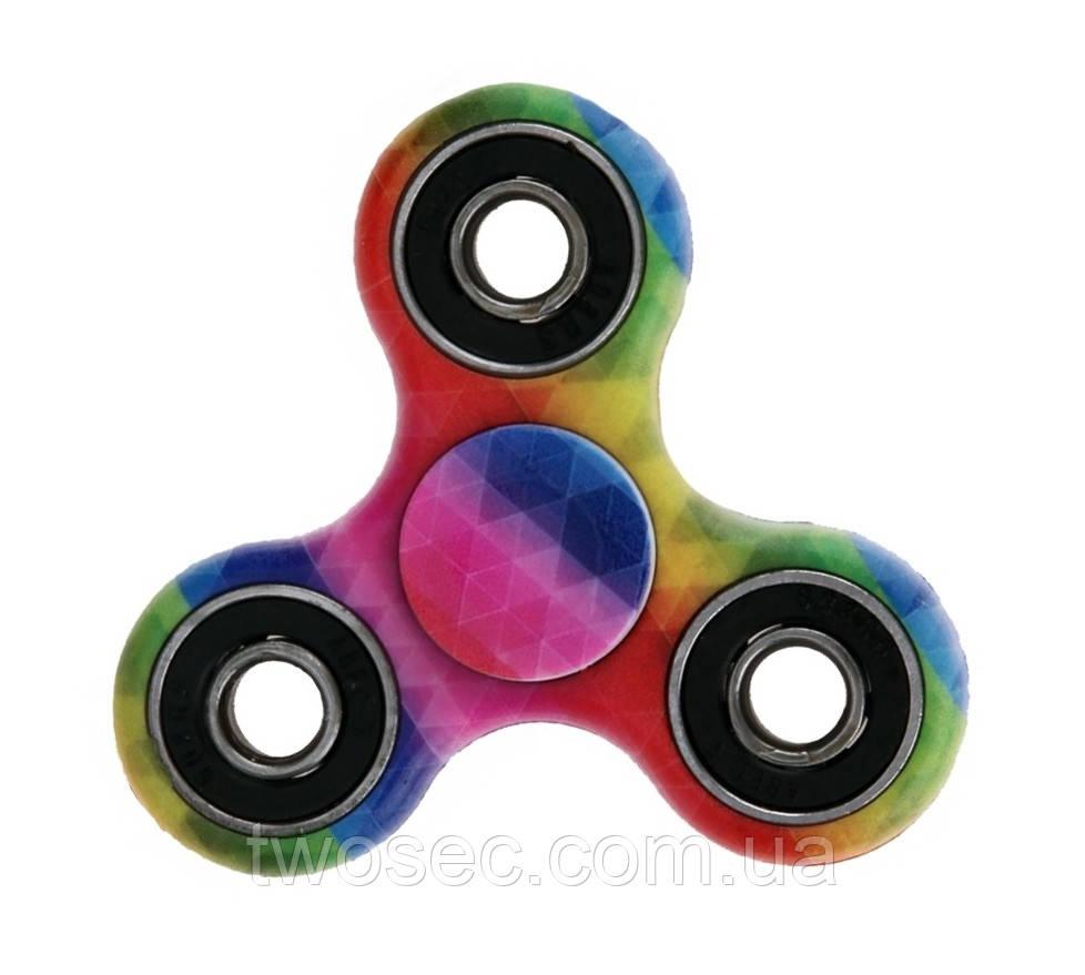 Спиннер игрушка-антистресс Ромб с подшипниками (hand fidget spinner), вертушка для рук, спинер, спиннеры