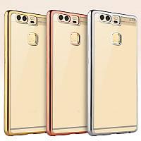 TPU чехол с глянцевым ободком для Huawei P9 plus (3 цвета в наличии)