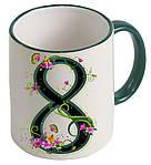 Чашка с Вашим дизайном Two Tone Mug, с цветной ручкой и каймой, фото 4