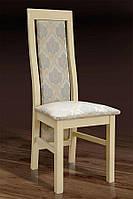 Стул деревянный буковый с мягким сиденьем и спинкой Катрин, слоновая кость, ткань Джангл 1v1 KOM