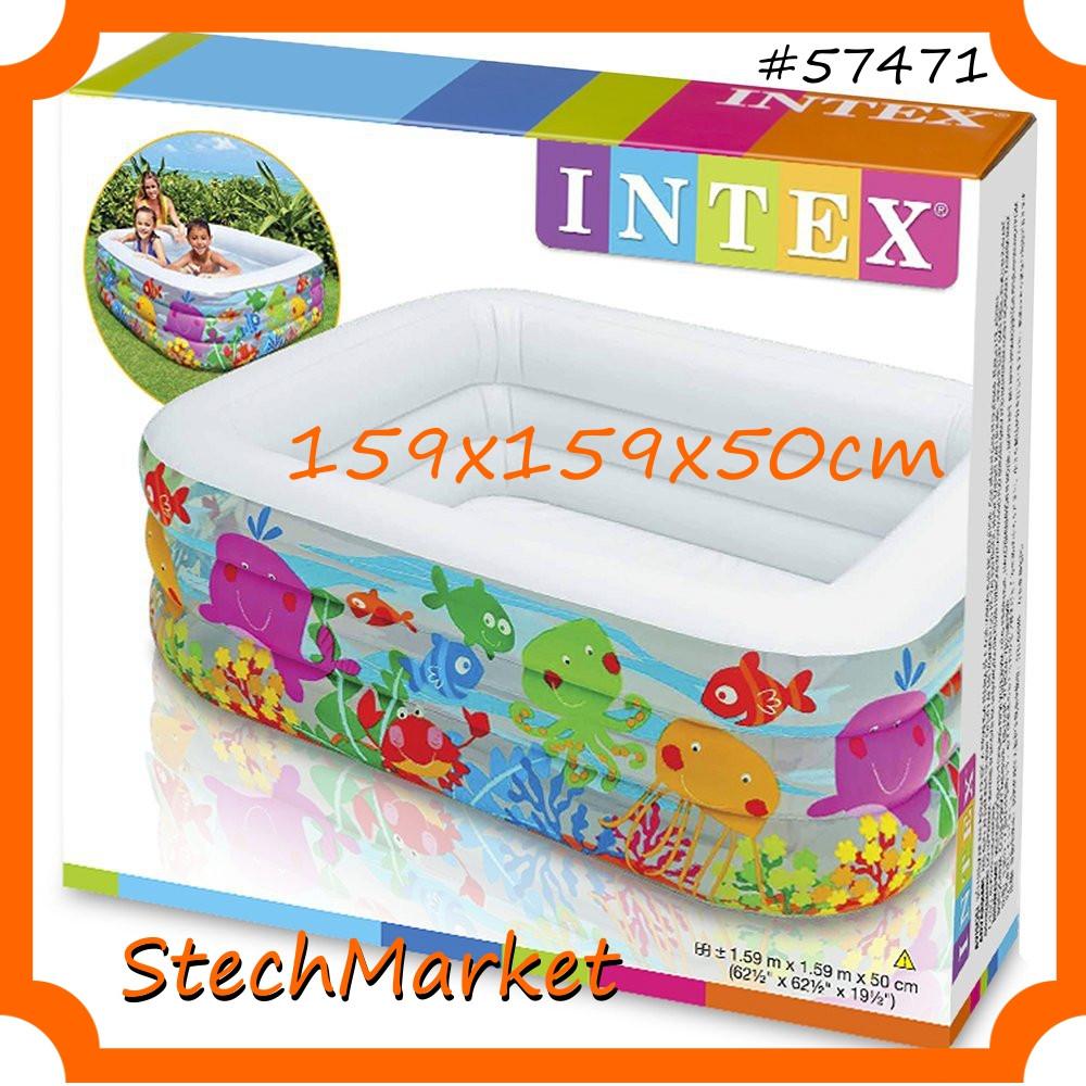 Детский надувной бассейн 57471 Intex 159х159 см квадрат
