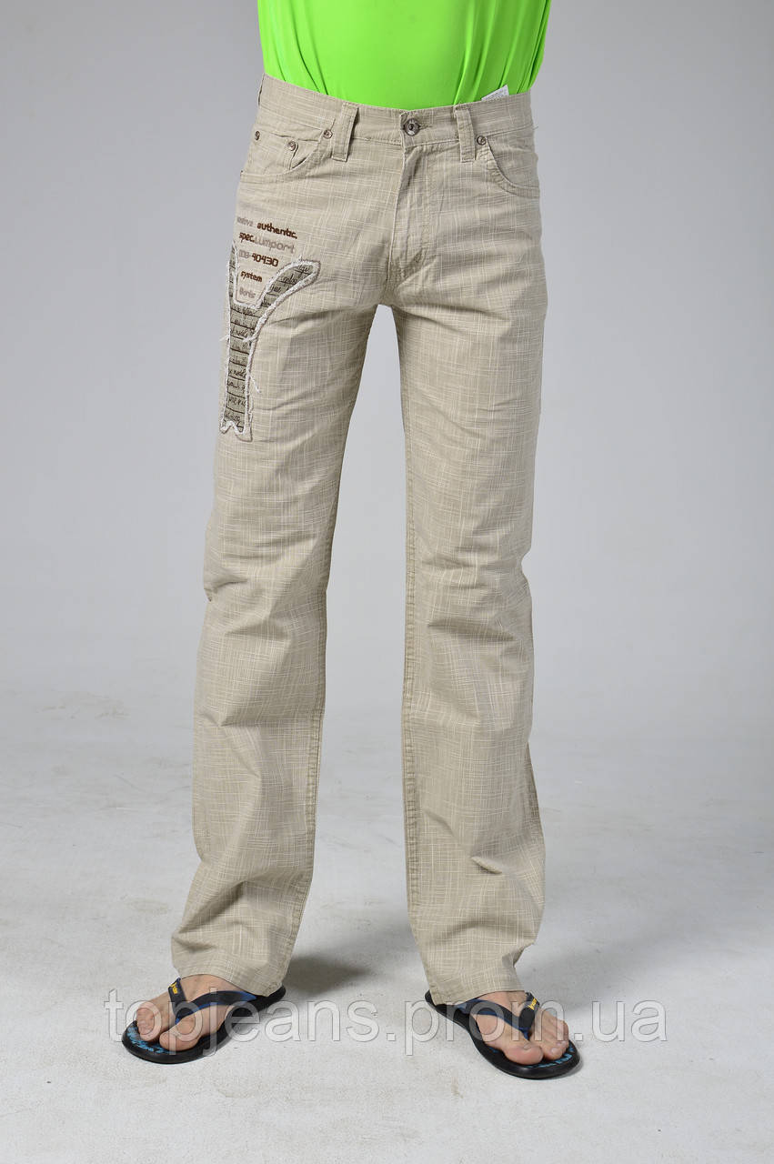 Летние льняные брюки подростковые