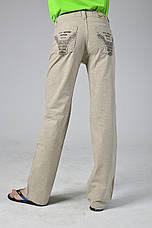 Летние льняные брюки подростковые, фото 3