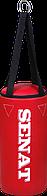 Мешок боксерский 40х18, кожзам, красный, 4 подвеса