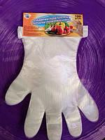 Перчатки одноразовые полиэтиленовые на планшете 100шт/уп Caravan
