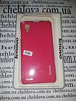 Чехол для Lenovo P780 Soft Touch (С матовой пленкой в комплекте) розовый