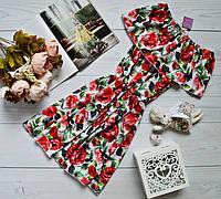 Супер модное платье-трансформер с разными вариантами носки и очень ярким принтом: чайная роза