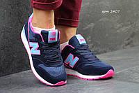 Женские кроссовки New balance 996 темно синие 2407