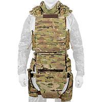 Боевой костюм Plastoon Level 5 с баллистическим матом, защитой бедер, паха, живота и шеи