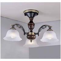 Потолочный светильник RECCAGNI ANGELO PL 2700/3 бронза/белый