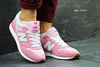Женские кроссовки New balance 996 розовые 2408