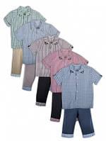 Комплект для мальчика шорты+рубашка Джон 110-116-122р, 2КП-363