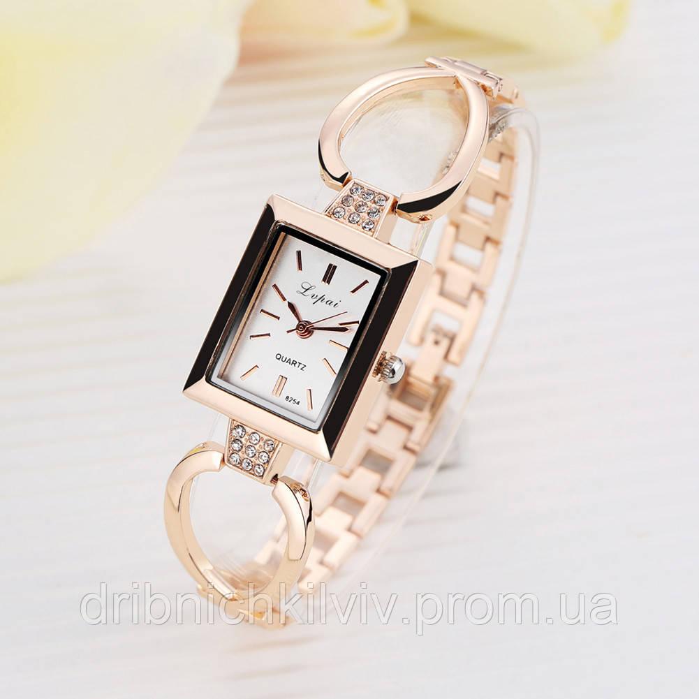Женские часы Золотистые Код 049