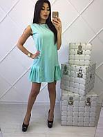 Платье трапеция бирюзового цвета
