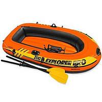 Лодка двухместная + насос + весла 196*102*33 см Intex 58357