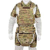 Боевой костюм Plastoon Level 6 с баллистическим матом, защитой плечей, бедер, паха, живота и шеи