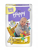 Подгузники Bella Happy Maxi Plus 4+ (9-20кг.) BIG PACK 62шт. Источник: http://yourhappy.com.ua/podguzniki-bell
