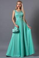 Платье длинное бирюза